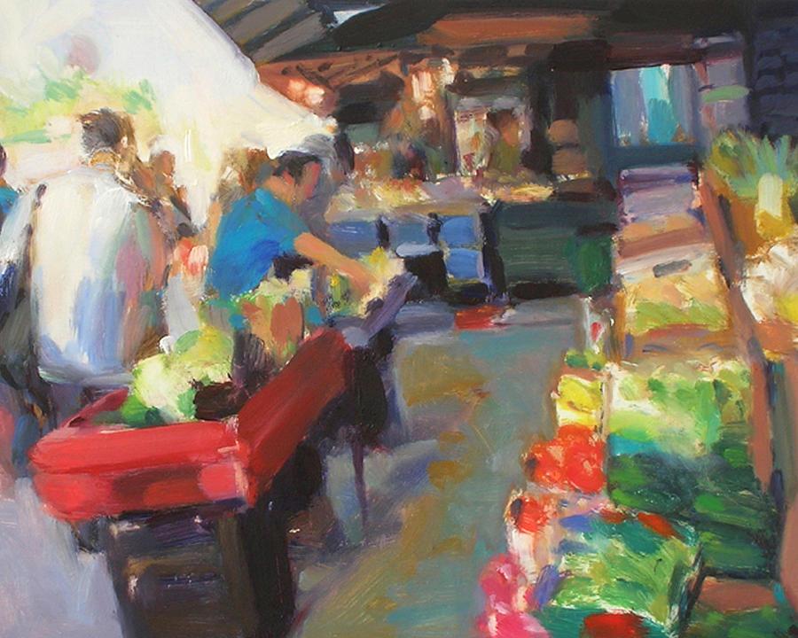Outdoor Market Painting - Outdoor Market by Merle Keller