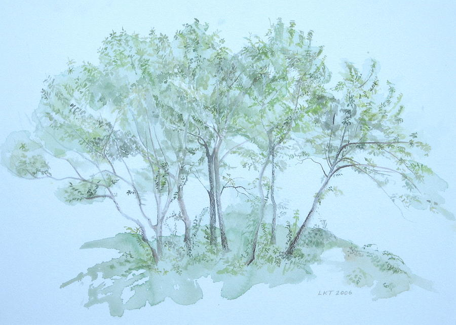 Trees Painting - Outer Banks by Leah  Tomaino