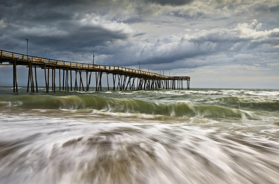 Cape Hatteras Nc Photograph - Outer Banks Nc Avon Pier Cape Hatteras - Fortitude by Dave Allen