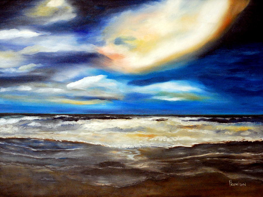 Sea Painting - Outer Banks Nc by Phil Burton