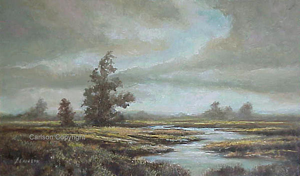 Oil Painting - Outer Banks by Patricia Carlson