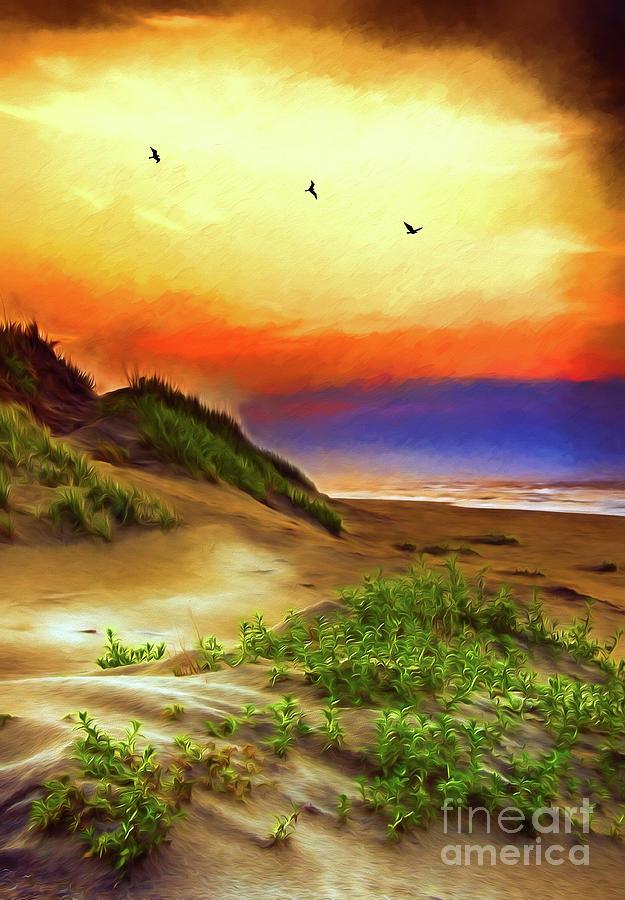 Outer Banks Sand Dune Sunrise AP by Dan Carmichael