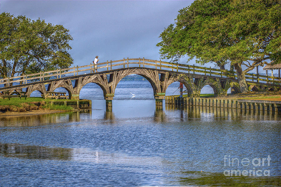 Summer Photograph - Outer Banks Whalehead Club Bridge  by Randy Steele