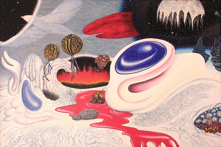 Fantasy Painting - Outerspace Landscape by Vince Plzak