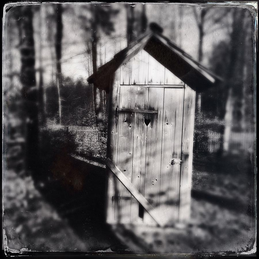 Outhouse Photograph - Outhouse black and white wetplate by Matthias Hauser