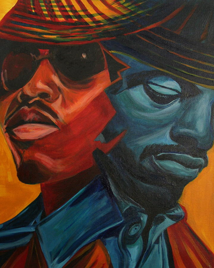 Big Boi Painting - Outkast by Kate Fortin
