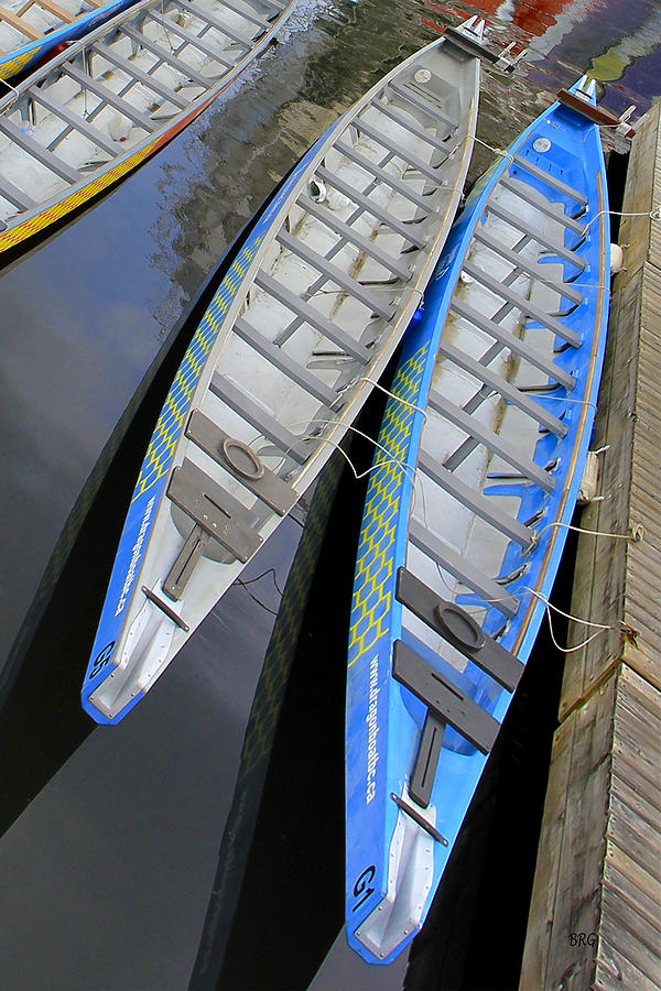 Canoeing Photograph - Outrigger Canoe Boats by Ben and Raisa Gertsberg