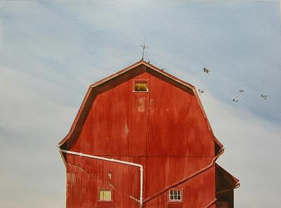 Outside Of Perry Ny Painting by Robert Wisner