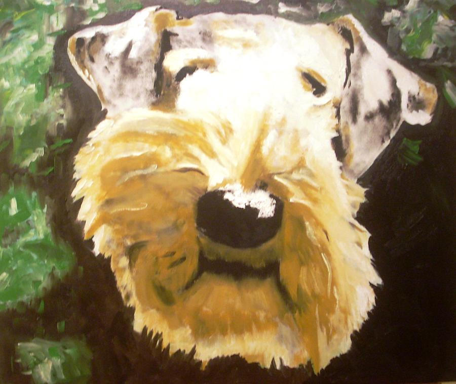 Airedale Terrier Painting - Outside by Ruben Barbosa