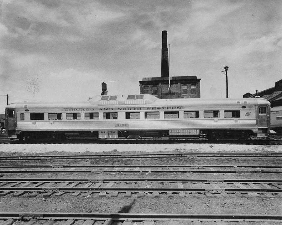 Passenger Cars Photograph - Outside Shot of Chicago and North Western  Car by Chicago and North Western Historical Society