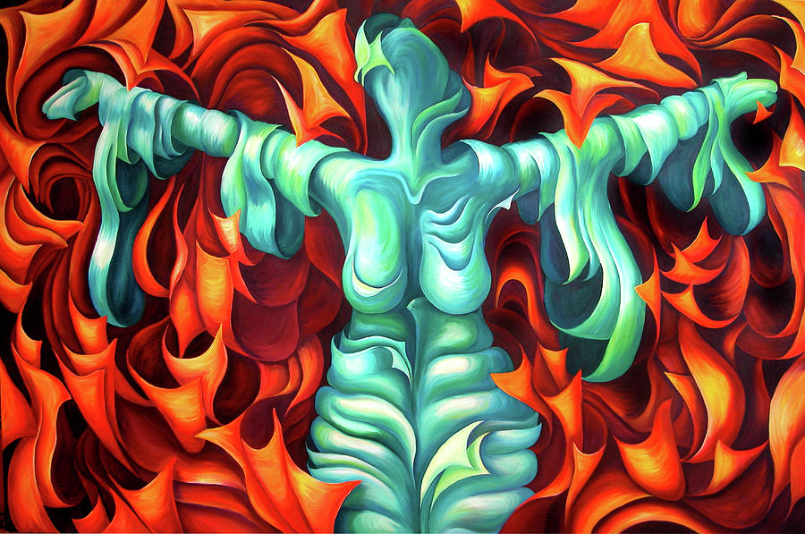 Woman Painting - Outstretched Arms - Layers Xvii by Diana Durr