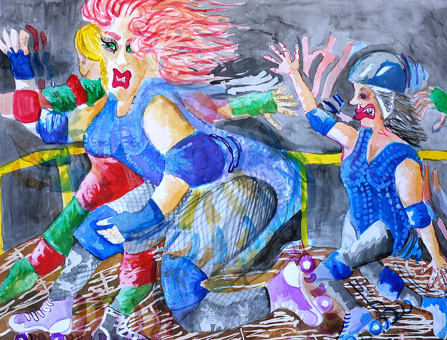 Women Painting - Outta The Way by Jame Hayes