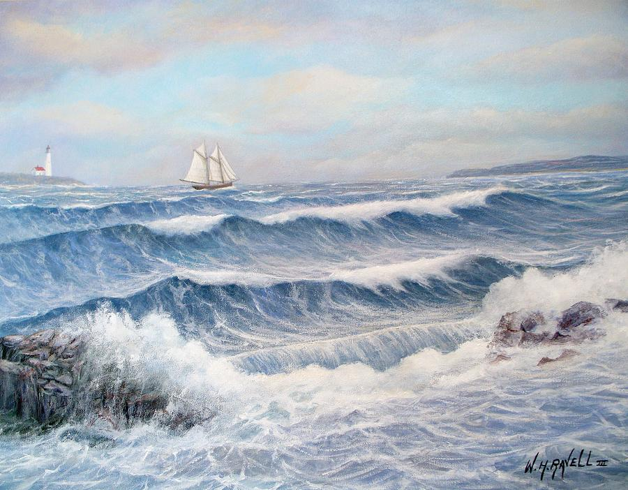 Seascape Painting - Outward Bound by William H RaVell III
