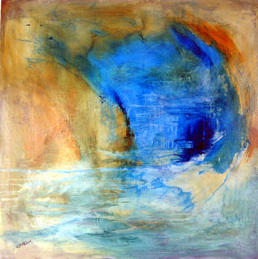 Abstrait Painting - Ouverture De La Vague by Carmelle Dorion