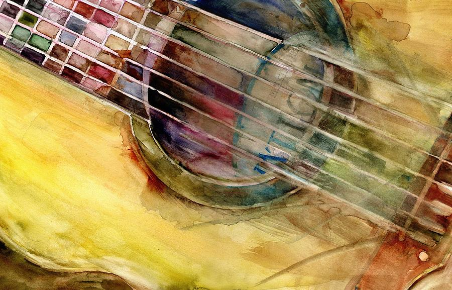 ovation guitar acoustic painting by dorrie rifkin