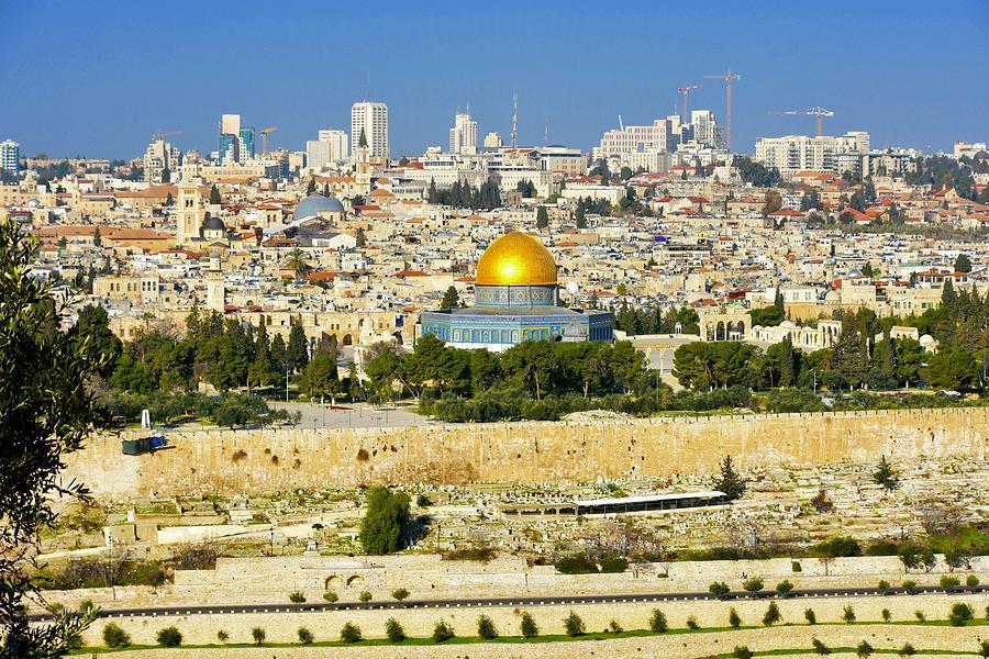 Jerusalem Photograph - Over Jerusalem by Barbara Stellwagen