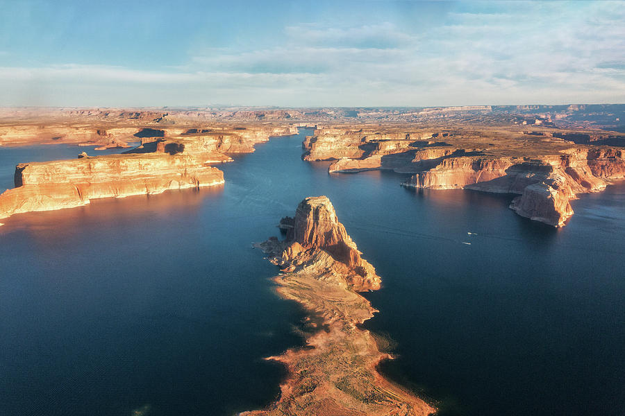 Over Lake Powell Aerial - 2 by Alex Mironyuk