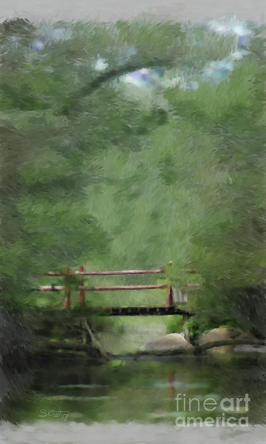 Landscape Digital Art - Over Still Waters by Steve Cost