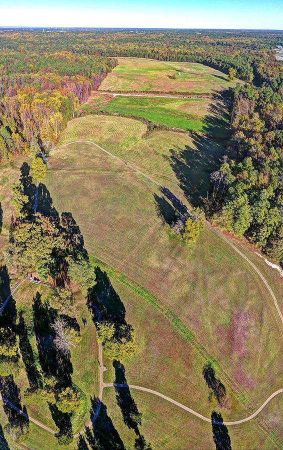 Petersburg Photograph - Over the Crater by Tredegar DroneWorks
