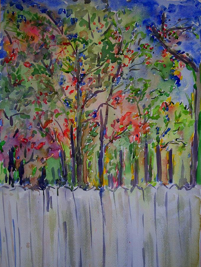 Foliage Painting - Over The Fence by Liliana Andrei