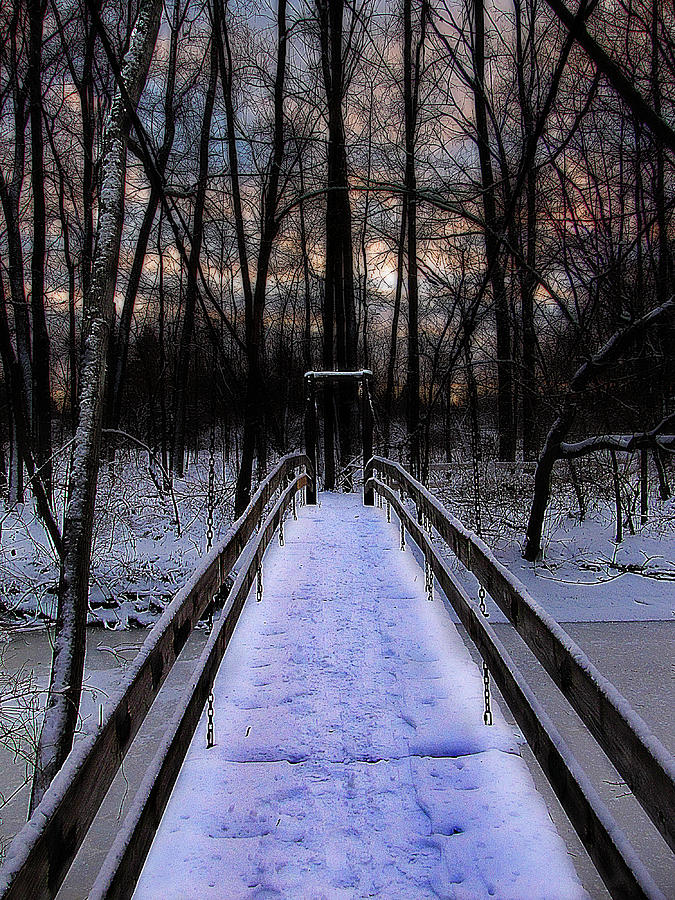 Hovind Photograph - Over The Frozen River by Scott Hovind