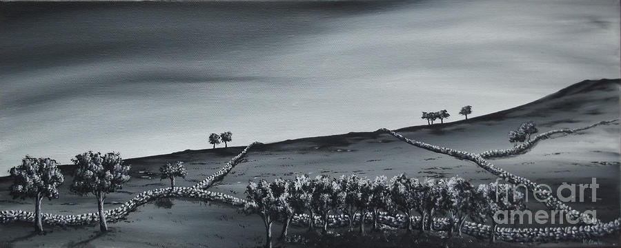 Over The Hill. Painting