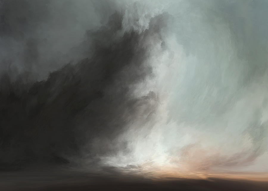 Atmosphere Mixed Media - Over The Horzon by Lonnie Christopher