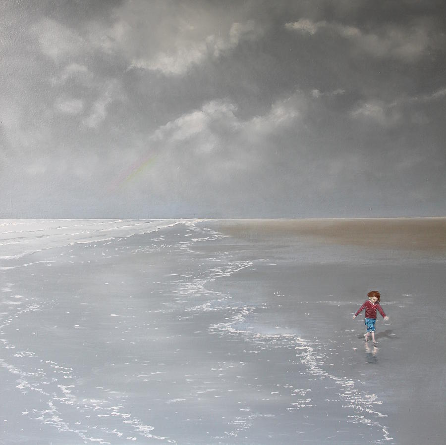 Sea Painting - Over The Rainbow by Paul Newcastle