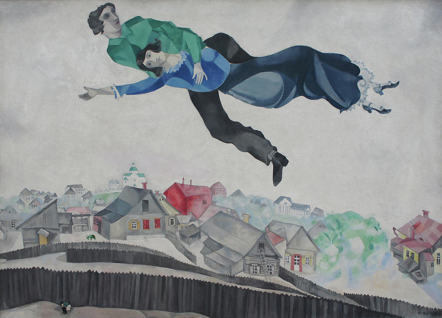 Marc Chagall Painting - Over The Town by Marc Chagall