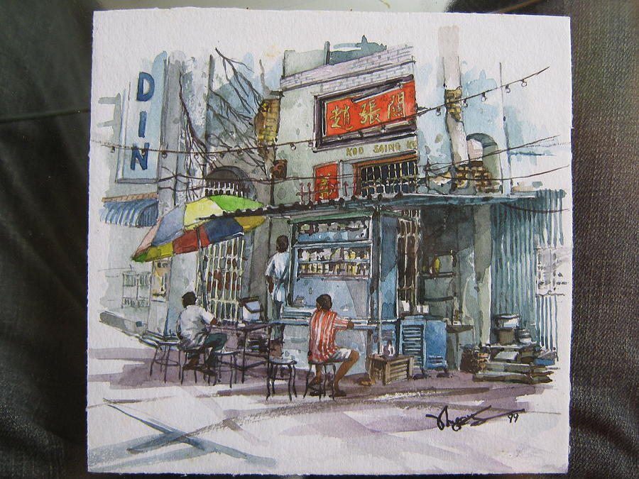 People Painting - Over There by Richard Ong