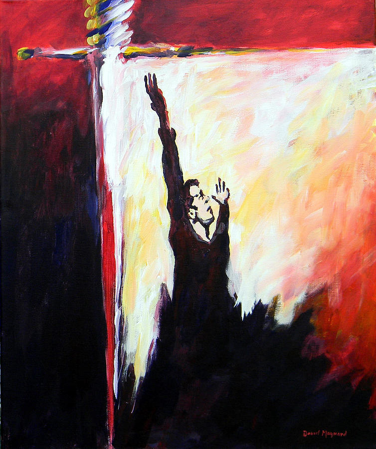 Religious Painting - Overcoming by David  Maynard