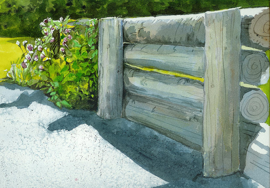 Watercolor Painting - Overcoming The Wall by Lynn Babineau