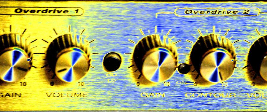 Guitar Amp Digital Art - Overdrive by Peter  McIntosh