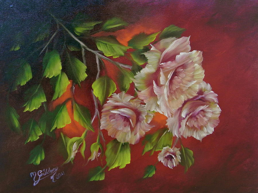 Roses Painting - Overhanging Roses by Micheal Giddens