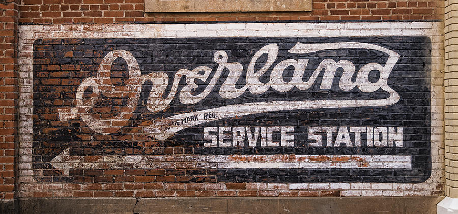 Overland Cars Photograph - Overland Service Station by Stephen Stookey