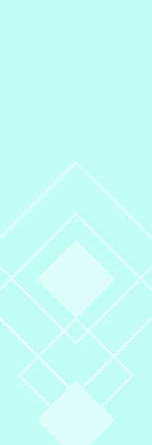 Overlapping Diamond Aqua Drawing