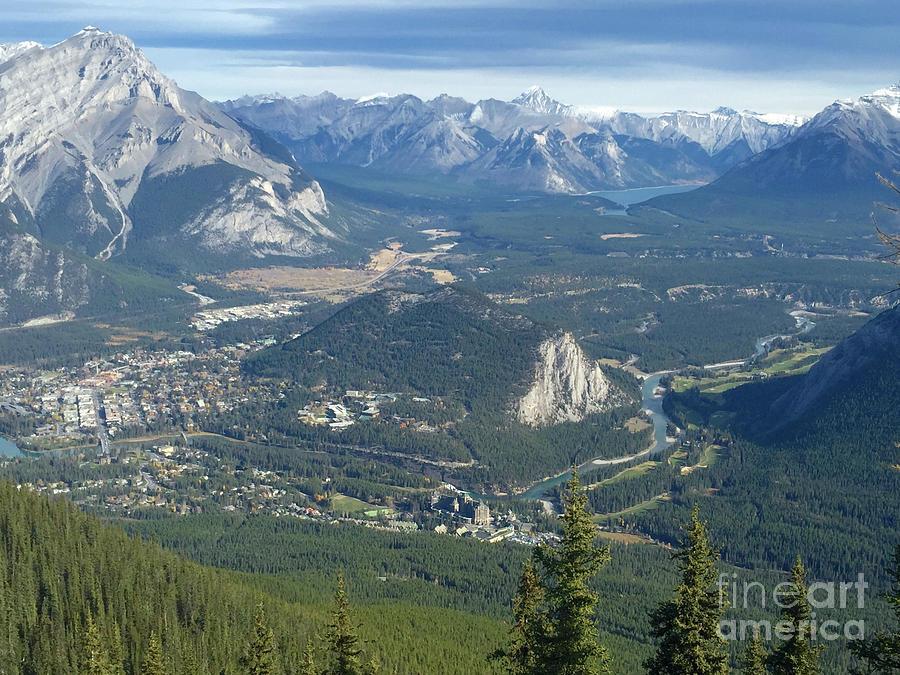 Banff Photograph - Overlook Banff Vista by Susan Garren