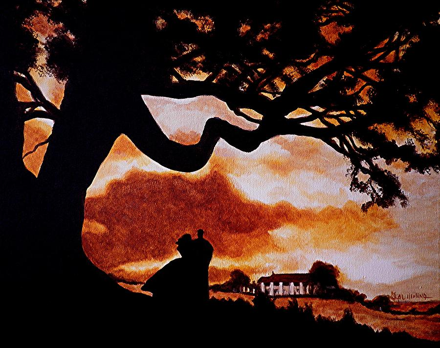 Gone With The Wind Painting - Overlooking Tara At Sunset by Al  Molina