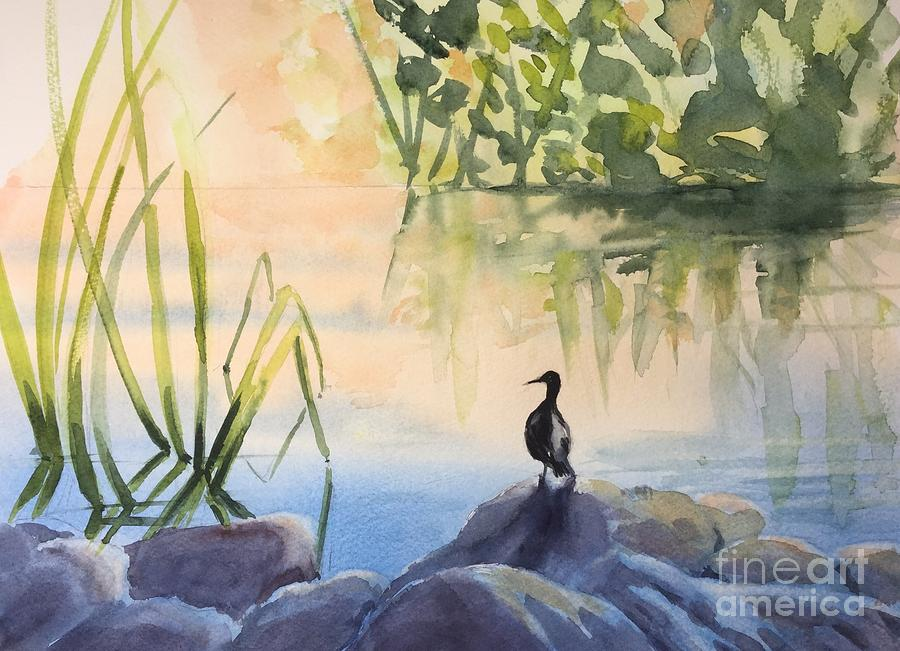 Duck Painting - Overlooking the Lake by Yohana Knobloch