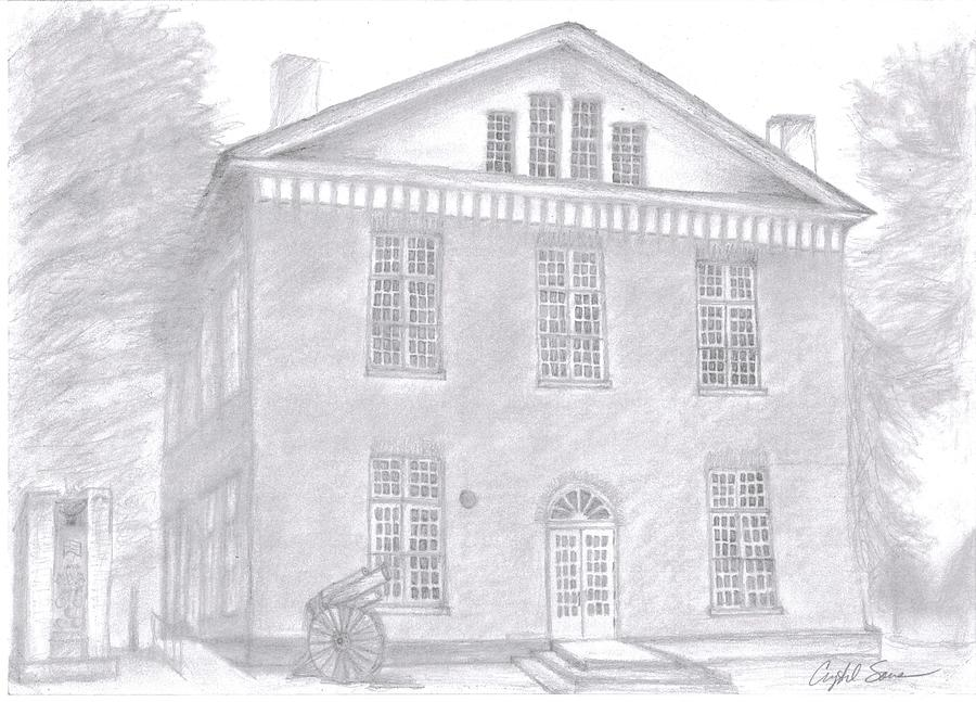 Overton County Courthouse Drawing by Crystal Sons