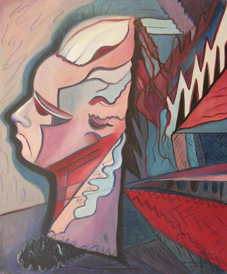 Overwhelmed Painting - Overwhelmed by Suzanne  Marie Leclair