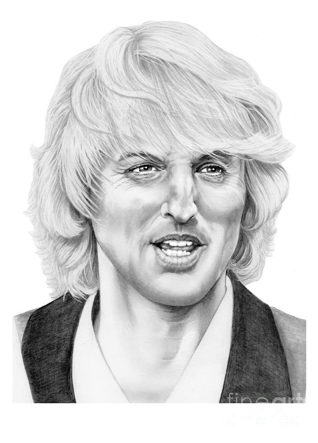 Drawing Drawing - Owen Wilson by Murphy Elliott
