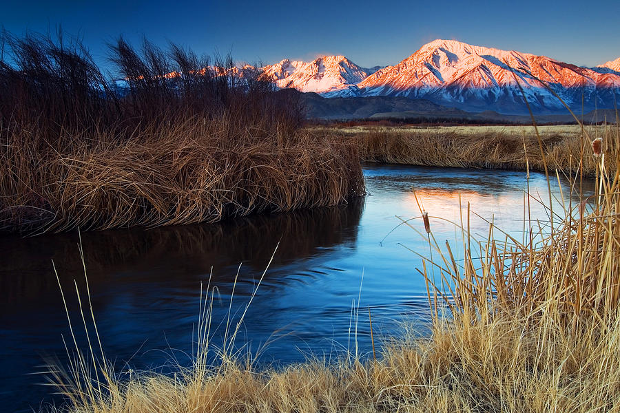 Eastern Sierra Photograph - Owens River Sunrise by Nolan Nitschke