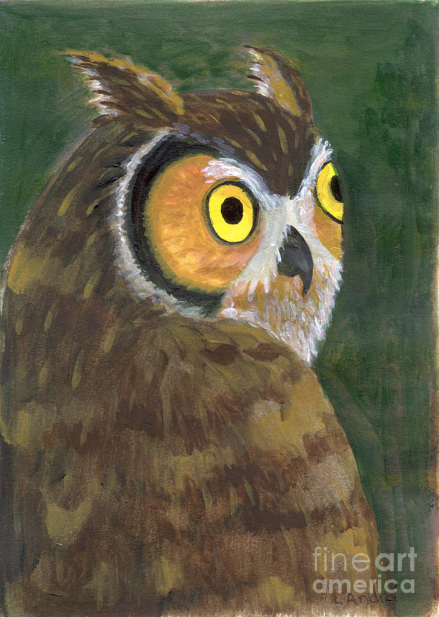 Owl Painting - Owl 2009 by Lilibeth Andre