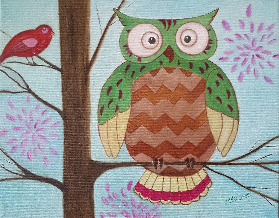 Owl Art Painting