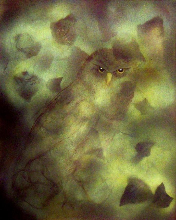 Owl Eyes Painting by Lynda McDonald