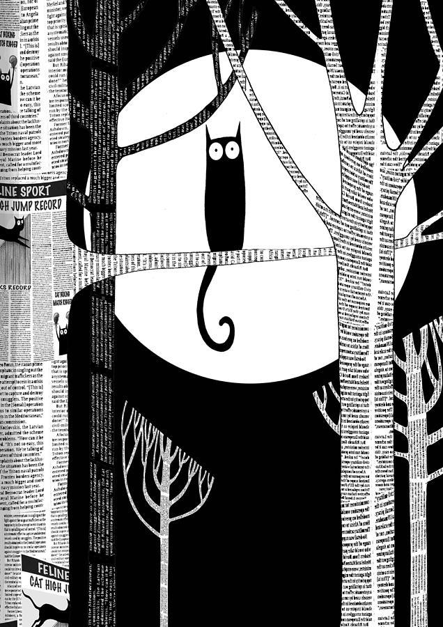 Cat Digital Art - Owl Impression by Andrew Hitchen