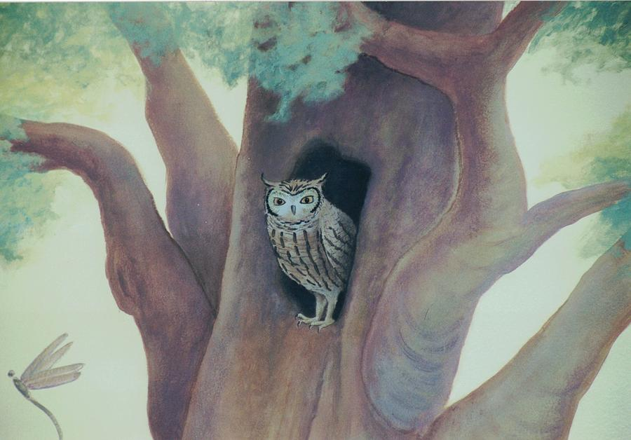 Owl in Tree by Suzn Smith