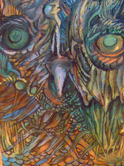 Owl Painting - Owl by James Rickard