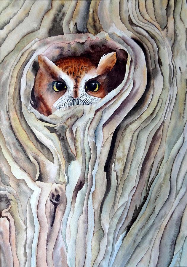 Owl Painting - Owl by Laurel Best
